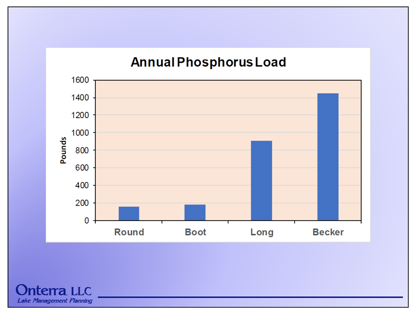 Preliminary Annual Phosphorus Loads